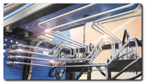 Hydraulic systems as part of special machines: Almost every single tube is tailor-made – manufactured within a short processing time at a high quality level, similar to series production  Photo: PIPE BENDING SYSTEMS