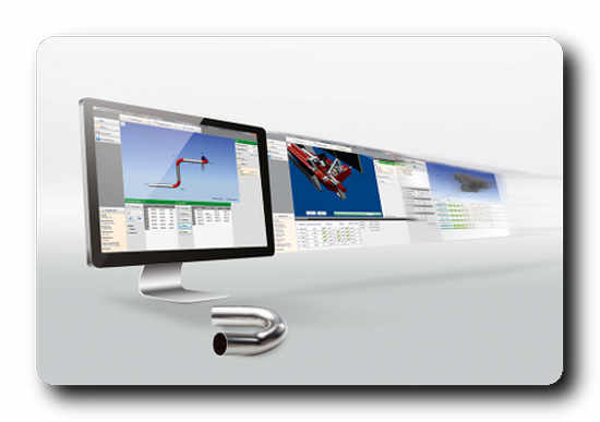 The transfluid t project software determines bending times, accurate cutting lengths and records tube data. © transfluid