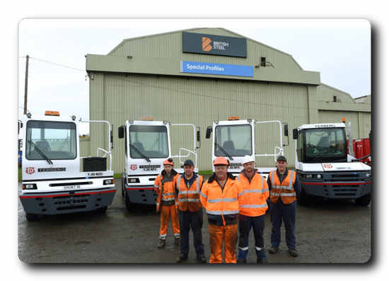 AV Dawson employees at British Steel's Special Profiles site