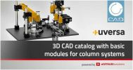 Faster designs in mechanical engineering thanks to new uversa CAD product catalog powered by CADENAS